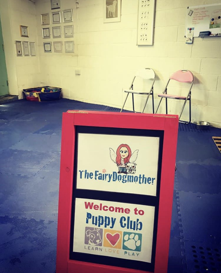 Puppy club sign